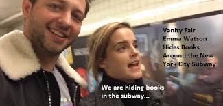 Vanity Fair Emma Watson Hides Books Around The New York City