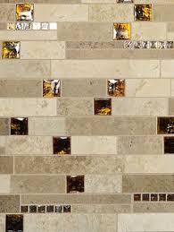 Black Granite Glass Tile Mixed Backsplash by Travertine Tile Backsplash Backsplash Just Completed 3x6