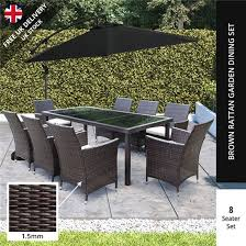 Outdoor Rattan Dining Chairs Billyoh Modica 8 Seater Rectangular Outdoor Rattan Dining Set