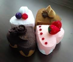 felt shaped cakes valentines patterns and