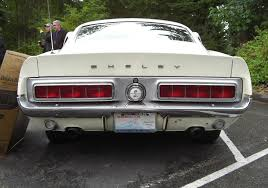 1968 mustang rear end wimbledon white 1968 ford mustang shelby gt 350 fastback