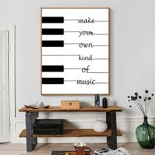 compare prices on music quote posters online shopping buy low nordic canvas painting quote make your own kind of music black white art poster nursery pictures