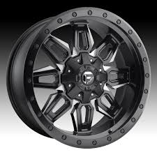 fuel wheels fuel neutron d591 matte black milled custom truck wheels rims
