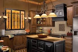 interior vintage kitchen light fixtures dark brown hardwood