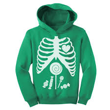 halloween hoodie children skeleton candy rib cage x ray halloween funny toddler