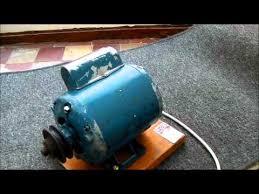 crompton parkinson capacitor start electric motor youtube