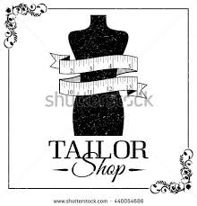 sewing supplies mannequin tape measure black stock vector