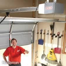 How To Install An Overhead Door How To Install A Replacement Garage Door Opener Family Handyman