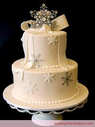 winter wonderland snowflake wedding cake wedding cakes