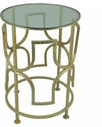 Halcyon Patio Furniture Amazing Deal On Set Of 2 Halcyon Goldtone Round Side Tables S 2