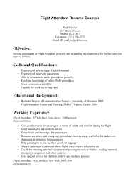Sample Resume Objectives Service Crew by Flight Attendant Resume Examples Resume Format 2017