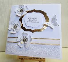wedding card stin up made wedding card