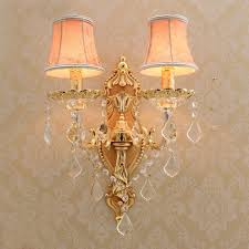 Crystal Wall Sconces Aliexpress Com Buy Satin Gold Wall Sconce With Fabric Shade