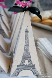 eiffel tower favors party with a vintage flair press print party