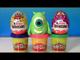 play doh easter eggs monsters kinder dinosaur