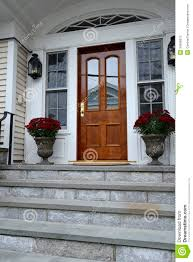 wood exterior door stock photo image 34958970