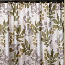 Botanical Shower Curtains Creative Bath Shadow Leaves 72 In X 72 In 100 Cotton Botanical