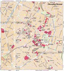 map brussels tourist map brussels major tourist attractions maps