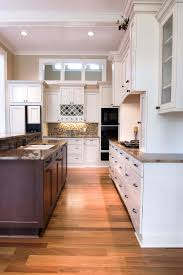 White Kitchen Cabinets With Black Island Kitchen Beautiful Beige Wood Glass Stainless Unique Design