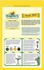wagner u0027s 62050 nyjer seed bird food 10pound bag ebay