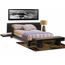 modern small master bedroom decor with queen bed size and wooden