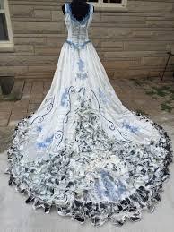 corpse wedding corpse emily costume wedding dress veil ooak