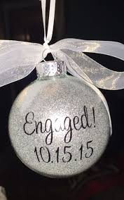 wedding gift ornaments engagement ornament engaged ornament personalized engagement