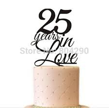 25 cake topper aliexpress buy free shipping anniversary cake decoration 25