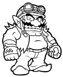 14 Images Mario Wario Coloring Pages Super Mario Wario