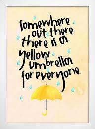 poster yellow umbrella how i met your mother comprar online