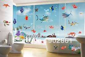 finding nemo under the sea shark fish wall stickers in the
