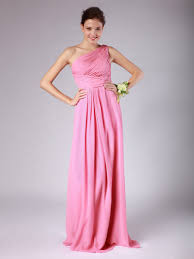 one shoulder pleated chiffon bridesmaid dress plus and petite