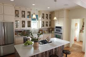 Kitchen With Cream Cabinets by Brilliant Pendant Lamp On Plain Ceiling Right For Cream Kitchen