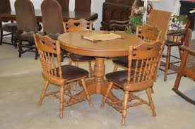 Vintage Oak Table   Chairs By Dinaire Furniture NY The Spring - Dining room furniture buffalo ny