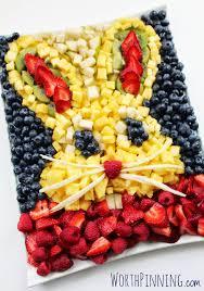 worth pinning bunny head fresh fruit platter