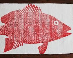 bath rug bath mat redfish fish cotton chenille rug