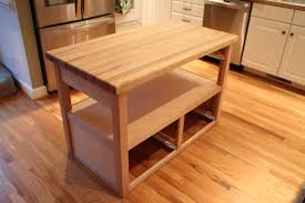 table with well made solid wood butcher block table style table design