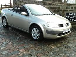 megane renault 2005 renault megane dynamique vvt convertible in gold 2005 05reg