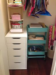 Ikea Craft Cart Organizing Our Cluttered Craft Closet Young House Love