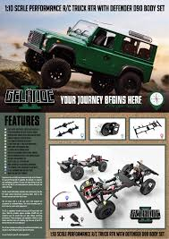 rc4wd gelande ii rtr truck kit w defender d90 body set
