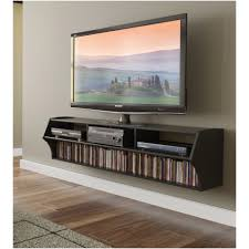 elegant floating shelves under wall mounted tv 16 for your narrow