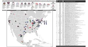 Canada Map Game by Minor League Baseball 2013 Attendance Map The 84 Highest Drawing