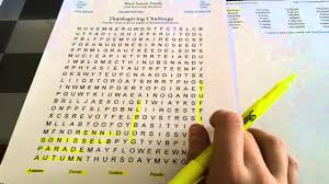 thanksgiving word search find asmr whisper