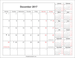 december 2017 calendar printable with holidays 4 printable