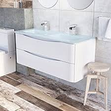 his u0026 hers double bathroom vanity sink unit wall hung basin soft