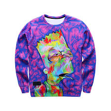 purple sweater stoned bart purple sweater 3d print