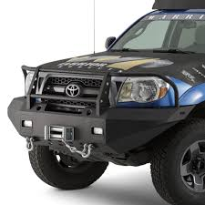 toyota tacoma front bumper guard warrior toyota tacoma 2005 2011 width black front winch hd