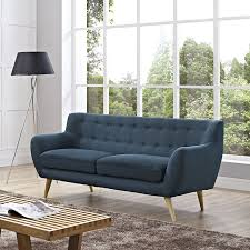 Dark Blue Loveseat The Well Appointed House Luxuries For The Home The Well