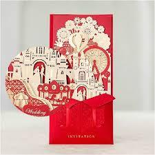 3d wedding invitations 3d wedding invitations laser cut castle bridal shower
