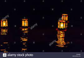 floating lanterns at night japanese lantern lighting ceremony